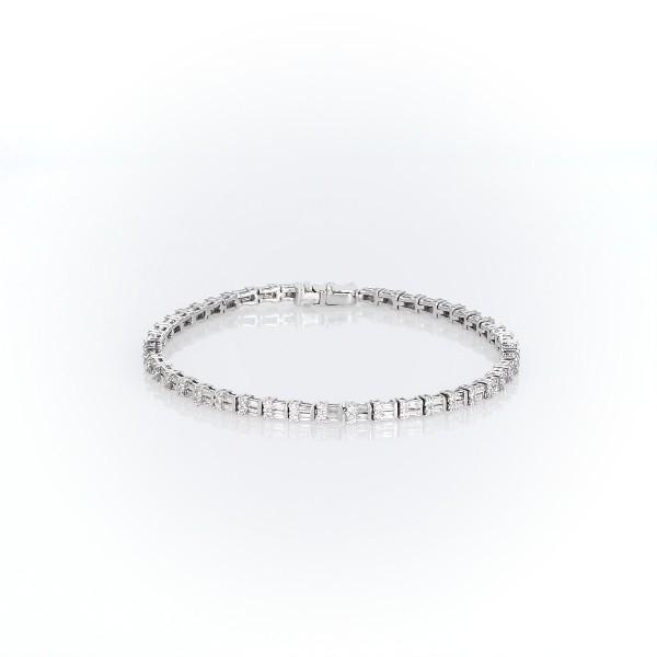 Round & Baguette Diamond Bracelet in 14k White Gold (2 1/4 ct. tw.)