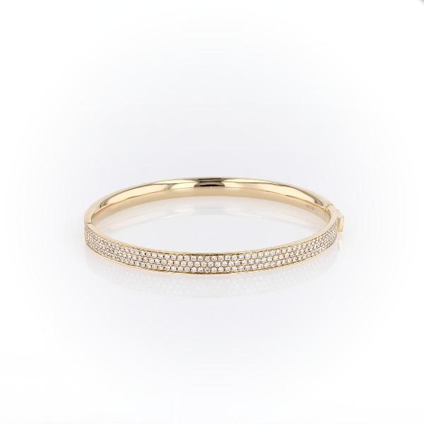 18k 黃金鑽石密釘手鐲手鍊(5 克拉總重量)