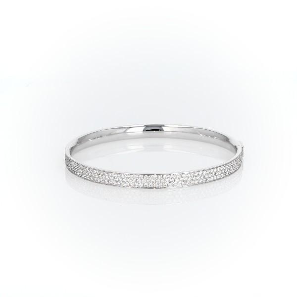 Diamond Pavé Bangle Bracelet in 18k White Gold (5 ct. tw.)