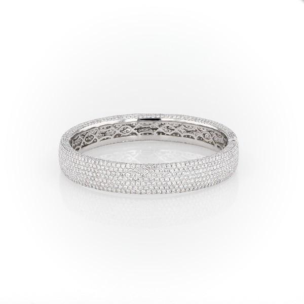 18k 白金密钉钻石手镯<br>(15 克拉总重量)