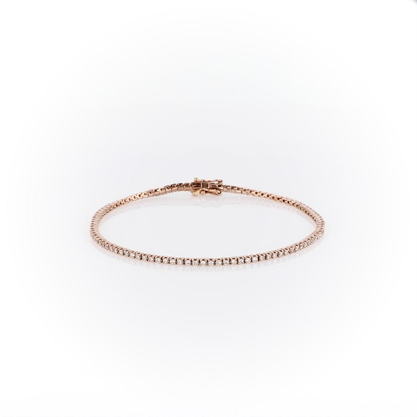 Diamond Tennis Bracelet in 14k Rose Gold (1 ct. tw.)