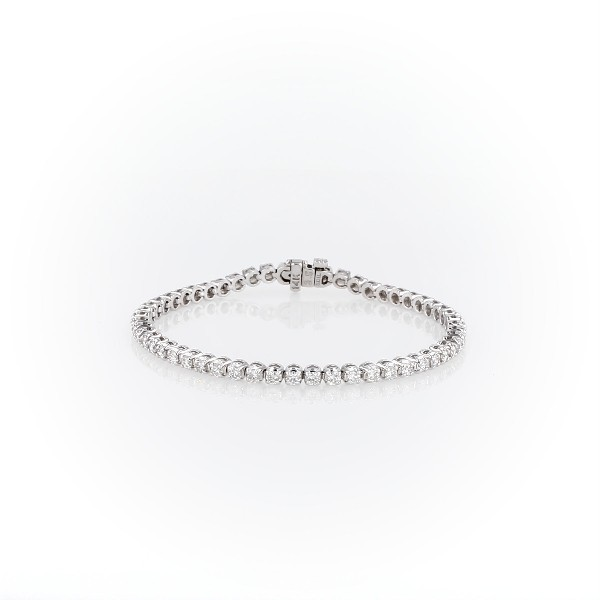 Bracelet tennis diamants en or blanc 14 carats (2,95 carats, poids total)