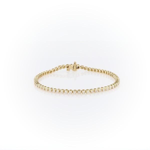 18k 黃金鑽石手鍊(2 克拉總重量)