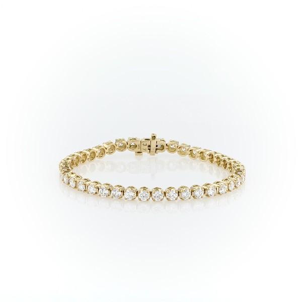 Bracelet tennis diamants en or jaune 18carats (8carats, poids total)