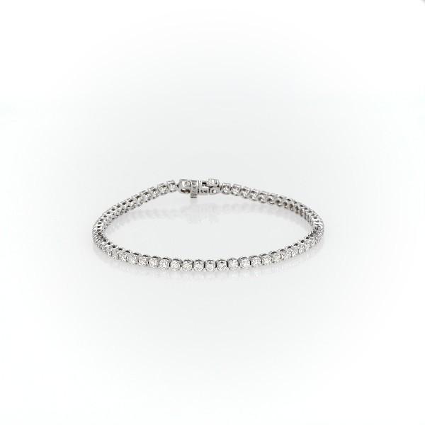 18k 白金鑽石手鍊(2 克拉總重量)