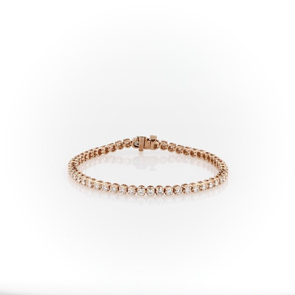 Diamond Tennis Bracelet in 14k Rose Gold (3 ct. tw.)