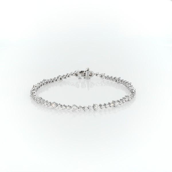Diamond Alternating Bracelet in 14k White Gold (3 ct. tw.)
