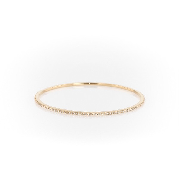 Stackable Pavé Diamond Bangle in 18k Rose Gold