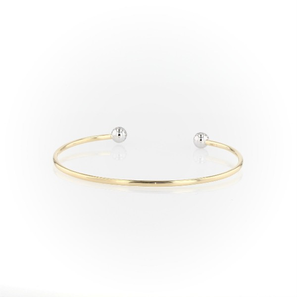 Blue Nile Studio Diamond Pavé Ball Cuff Bracelet in 18k Yellow Gold (0.46 ct. tw.)