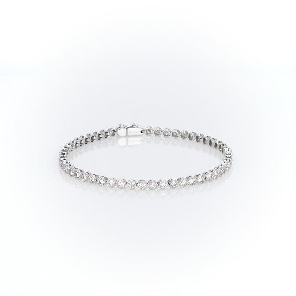 Diamond Milgrain Tennis Bracelet in 14k White Gold (2.85 ct. tw.)