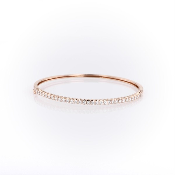 Diamond Bangle in 14k Rose Gold (1 1/2 ct. tw.)