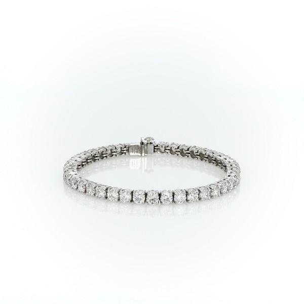 Blue Nile Signature Ideal Cut Diamond Tennis Bracelet in Platinum (10 ct. tw.)