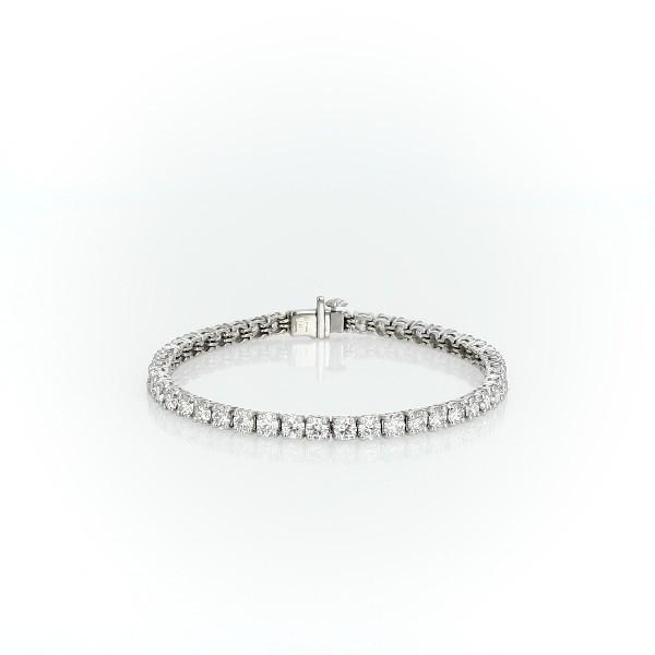 鉑金 Blue Nile 精選級理想型切割鑽石手鍊(7 克拉總重量)