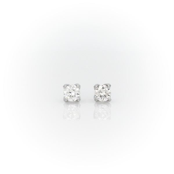 Monique Lhuillier Pavé Petal Diamond Earrings in Platinum (1/2 ct. tw.)