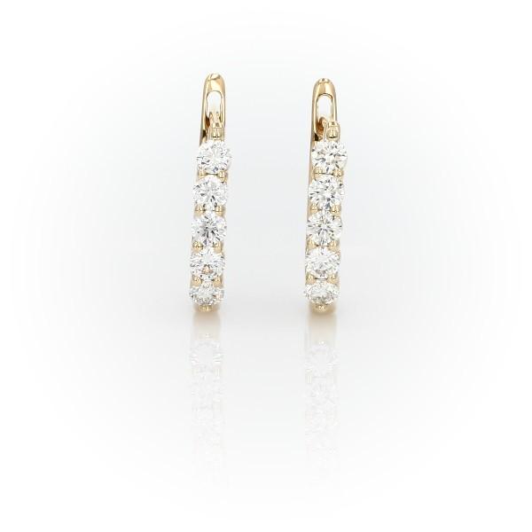 Diamond Hoop Earrings in 18k Yellow Gold (3/4 ct. tw.)