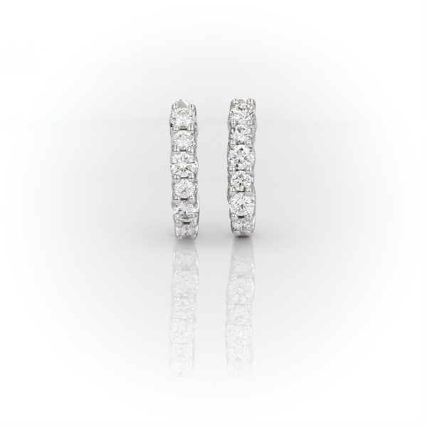 Tessere Diamond Hoops in 14k White Gold (1/2 ct. tw)