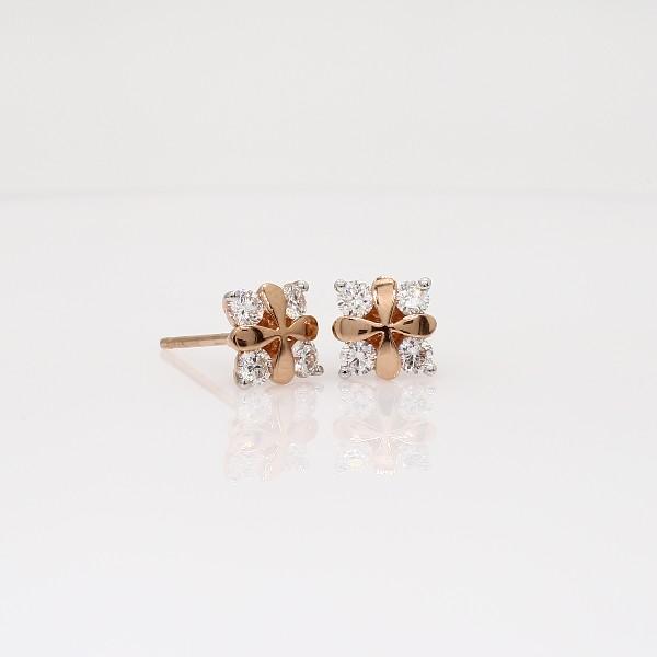 Blue Nile Rose Petal Diamond Stud Earring in 18k Rose Gold (2/5 ct. tw.) 30GcAQgo