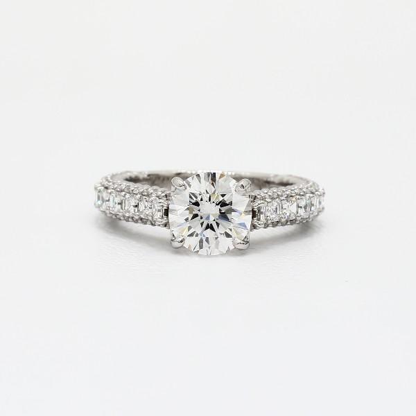 Bella Vaughan For Blue Nile Grandeur Roped Diamond Engagement Ring In Platinum 1 5 Ct Tw Blue Nile