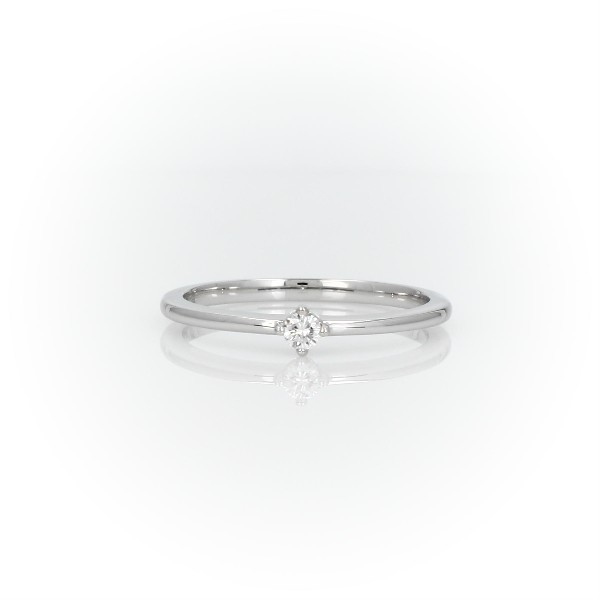 Mini Diamond Stackable Fashion Ring in 14k White Gold