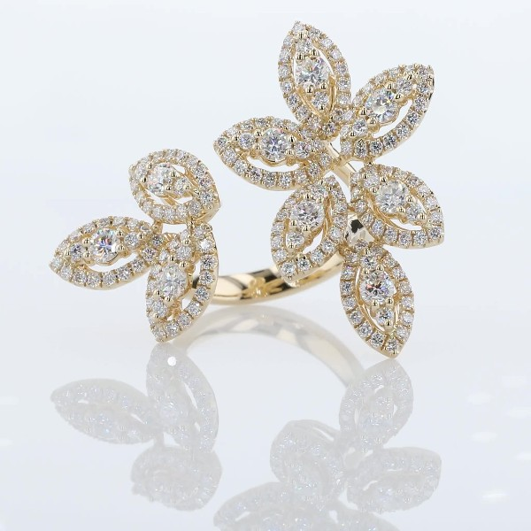 Diamond Foliage Fashion Ring in 14k Yellow Gold (2 1/4 ct. tw.)