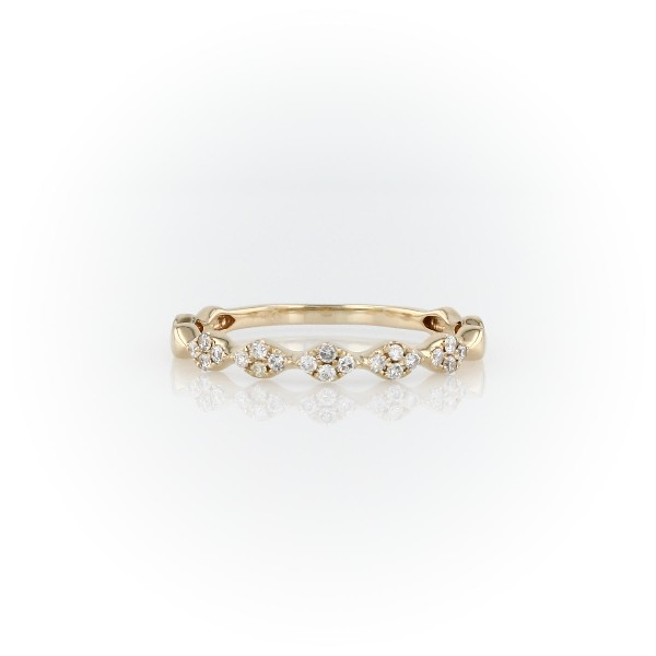 Diamond Zig-Zag Stackable Fashion Ring in 14k Yellow Gold (1/8 ct. tw.)