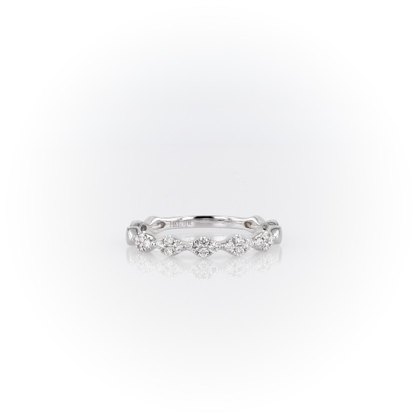 Diamond Zig-Zag Stackable Fashion Ring in 14k White Gold (0.14 ct. tw.)