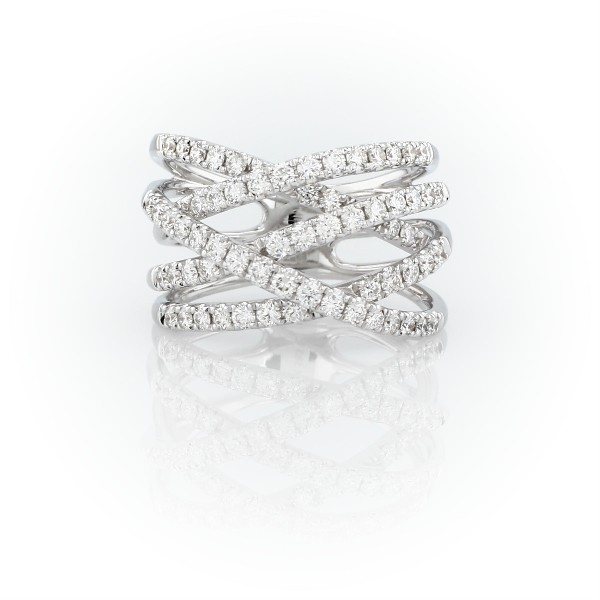 Diamond Wrap Fashion Ring in 14k White Gold (1 ct. tw.)