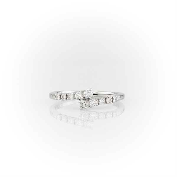 Diamond Linear Wrap Fashion Ring in 14k White Gold (1/4 ct. tw.)