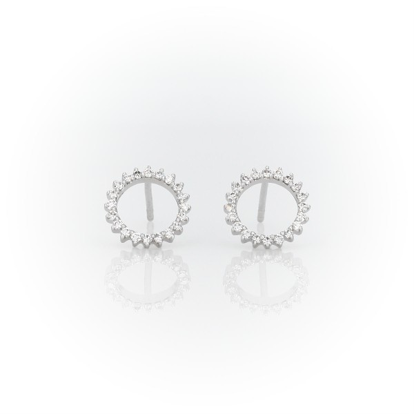 Monique Lhuillier Starburst Stud Earrings in 18k White Gold (0.17 ct. tw.)