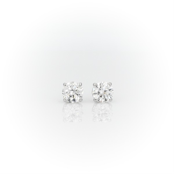 Canadian Diamond Stud Earrings in 18k White Gold (1 ct. tw.)