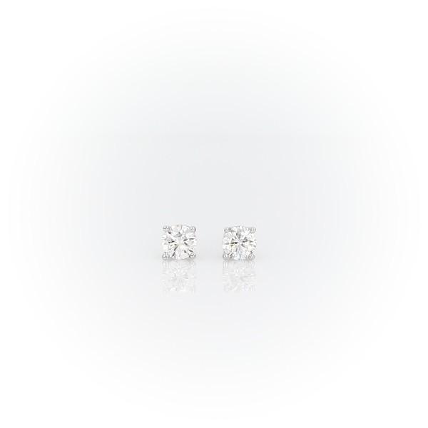 18k 白金加拿大钻石钉款耳环(1/4 克拉总重量)