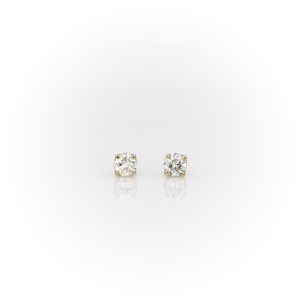 14k Yellow Gold Four-Claw Diamond Stud Earrings (0.23 ct. tw.)
