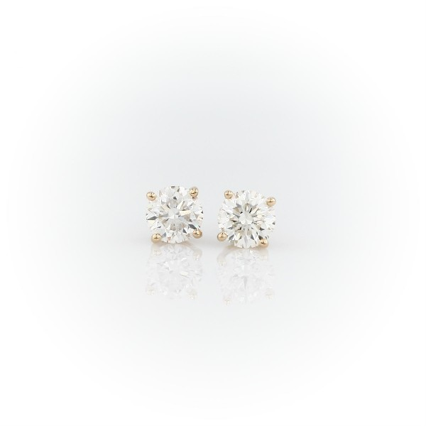 14k Yellow Gold Four-Claw Diamond Stud Earrings (1.54 ct. tw.)