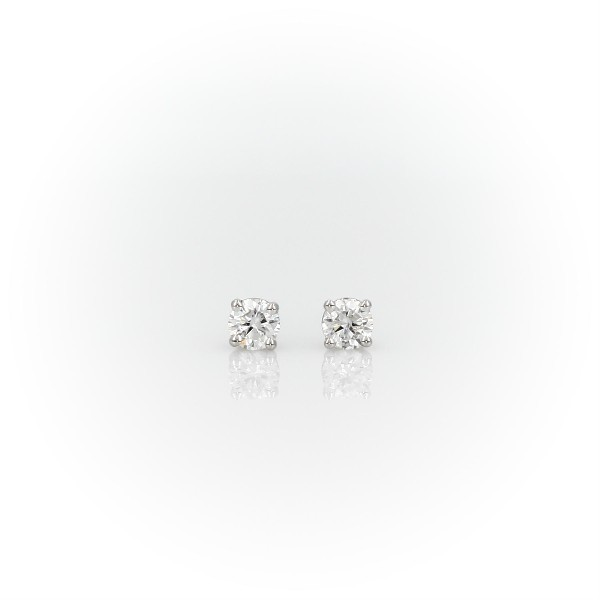 14k White Gold Four-Claw Diamond Stud Earrings (0.30 ct. tw.)