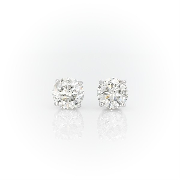 Diamond Stud Earrings in 14k White Gold (3 ct. tw.)