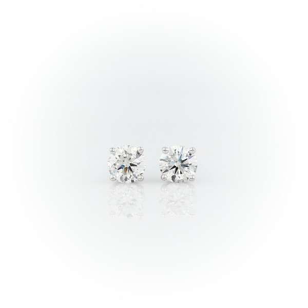 14k White Gold Four-Claw Diamond Stud Earrings (0.96 ct. tw.)