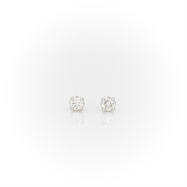 14k White Gold Four-Claw Diamond Stud Earrings (0.18 ct. tw.)