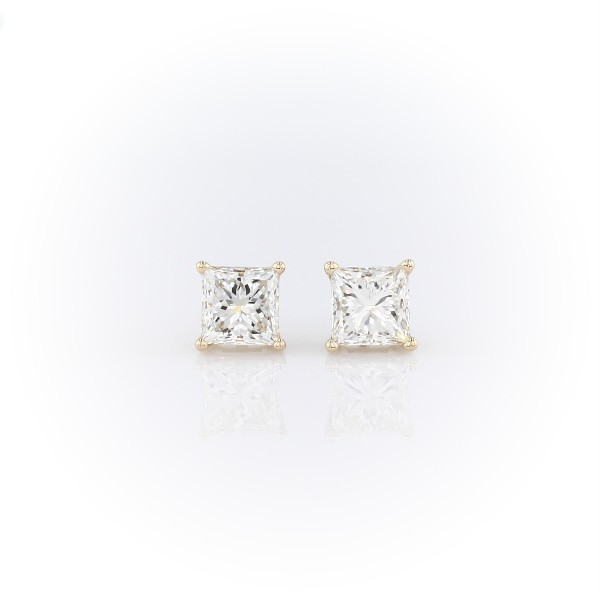 Princess Diamond Stud Earrings in 14k Yellow Gold (2 ct. tw.)