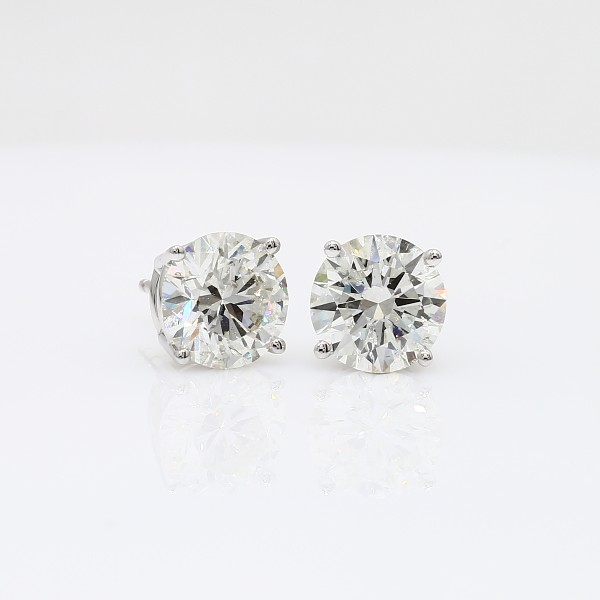 Diamond Stud Earrings in 14k White Gold (4 ct. tw.)