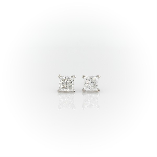 Princess-Cut Diamond Stud Earrings in 14k White Gold (3/4 ct. tw.)
