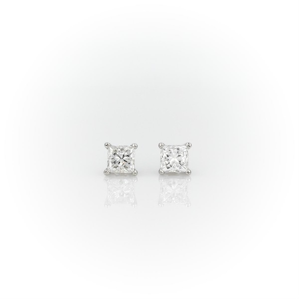 Princess-Cut Diamond Earrings in Platinum (3/4 ct. tw.)