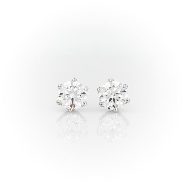 Blue Nile Signature Six Claw Diamond Stud Earrings in Platinum (2.00 ct. tw.)