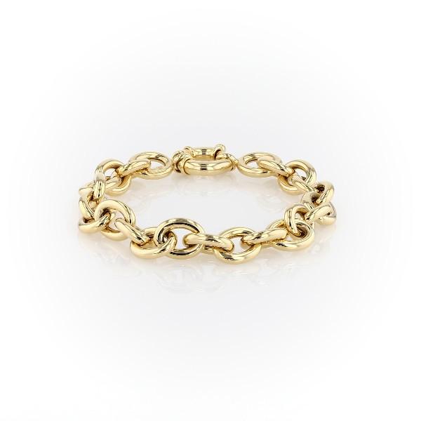 Oval Linked Bracelet in 14k Italian Yellow Gold