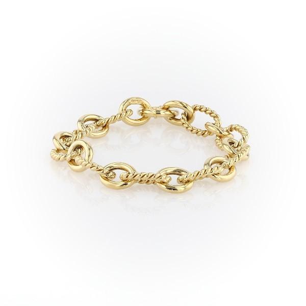 14k 義大利黃金鏈狀手鍊