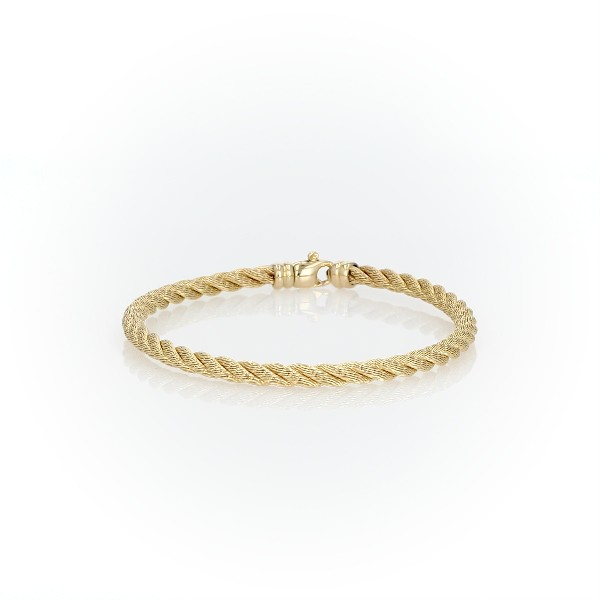 Twisted Rope Bracelet in 18k Italian Yellow Gold
