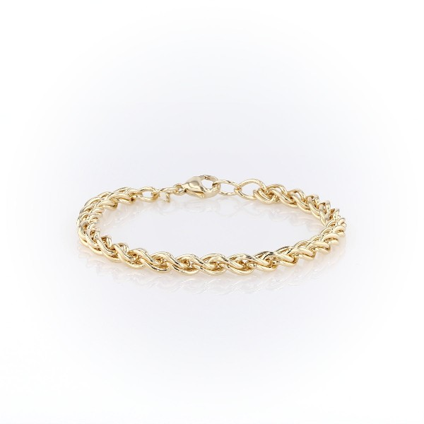 Woven Bracelet in 14k Yellow Gold