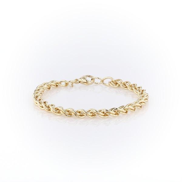 14k 黃金編織手鍊