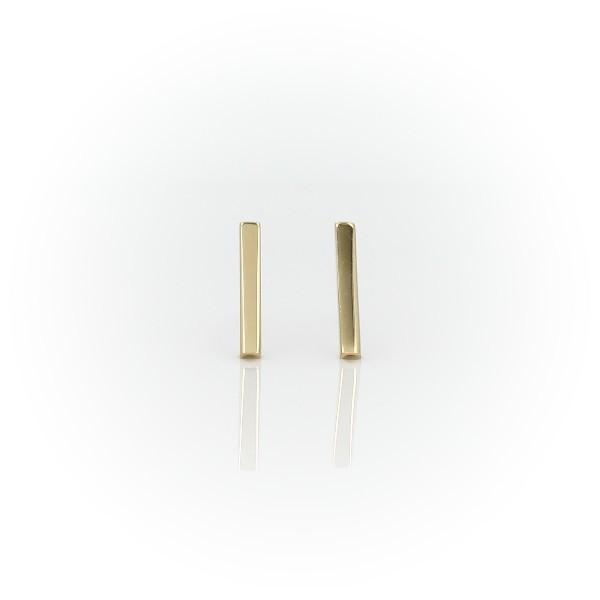 14k 黃金 長條耳釘耳環