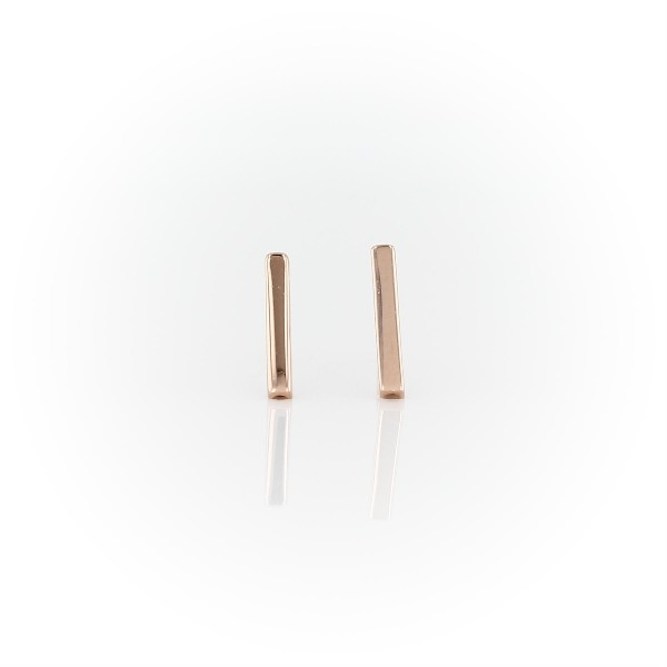 Bar Stud Earrings in 14k Rose Gold