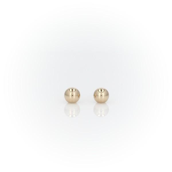 14k 黃金兒童球狀耳環(3.8毫米)